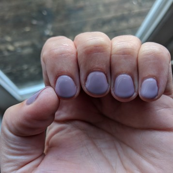 My nails: Dovetail